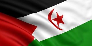 флаг Сахара западная стоковые фотографии rf
