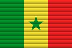Флаг Сенегала также вектор иллюстрации притяжки corel иллюстрация штока