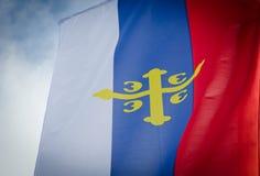 Флаг сербской православной церков церков стоковые изображения rf