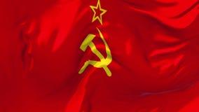 345 Флаг Советского Союза развевая в предпосылке петли ветра непрерывной безшовной бесплатная иллюстрация