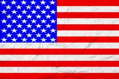 Флаг Соединенных Штатов Америки сбор винограда типа лилии иллюстрации красный старая стена текстуры Увяданная предпосылка Стоковые Изображения