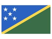 Флаг Соломоновых Островов иллюстрация вектора