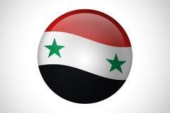 Флаг страны Сирии для кнопки сети Стоковые Изображения RF