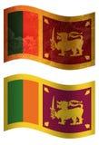 Флаг страны Шри-Ланка 3D, stylesSwitzerlandSpain 2 иллюстрация штока