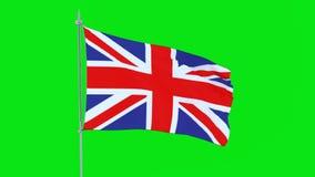 Флаг страны Akrotiri и флаттеров Dhekelia на зеленой предпосылке сток-видео