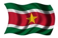 флаг Суринам Стоковое Изображение RF