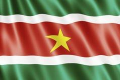 флаг Суринам Стоковое Изображение