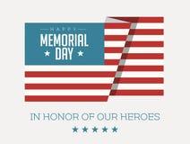 Флаг счастливого Дня памяти погибших в войнах американский - иллюстрация вектора иллюстрация штока