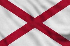 Флаг США Алабамы нежно развевая в ветре бесплатная иллюстрация