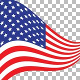 флаг США американский символ Значок флага США Иллюстрация на День независимости 4-ое июля иллюстрация вектора