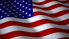 Флаг США, безшовная петля акции видеоматериалы
