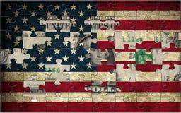 флаг США доллара Стоковые Изображения
