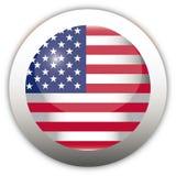 флаг США кнопки aqua Стоковое фото RF