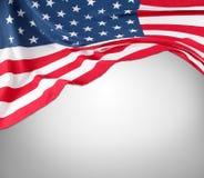 Флаг США на сером цвете Стоковая Фотография