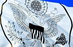 флаг США развевая дизайн флага 3D Национальный символ США, перевод 3D Цвета большой государственной печати национальные Националь бесплатная иллюстрация