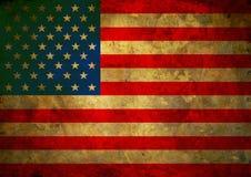 Флаг США Grunge Стоковое Изображение RF
