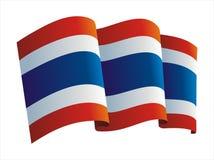 флаг Таиланд Стоковое Изображение