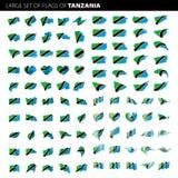 Флаг Танзании, иллюстрация вектора Стоковая Фотография