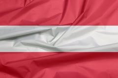 Флаг ткани Австрии Залом австрийской предпосылки флага иллюстрация вектора