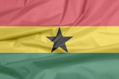 Флаг ткани Ганы Залом ганской предпосылки флага бесплатная иллюстрация