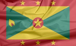 Флаг ткани Гренады Залом Grenadian предпосылки флага иллюстрация вектора