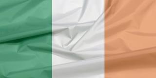 Флаг ткани Ирландии Залом предпосылки флага Ирландского бесплатная иллюстрация