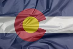 Флаг ткани Колорадо Залом предпосылки флага Колорадо, положения Америки бесплатная иллюстрация