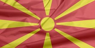 Флаг ткани македонии Залом македонской предпосылки флага бесплатная иллюстрация