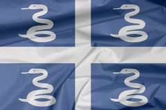 Флаг ткани Мартиникы Залом предпосылки флага Мартиникы иллюстрация штока