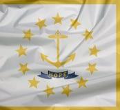 Флаг ткани Род-Айленда Залом предпосылки флага Род-Айленда, положения Америки иллюстрация штока