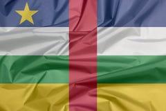 Флаг ткани центрально-африканского Залом центрально-африканской предпосылки флага стоковые фото