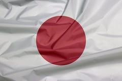Флаг ткани Японии Залом предпосылки флага японца бесплатная иллюстрация