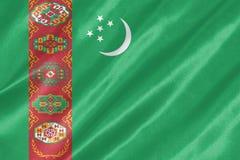 Флаг Туркменистана стоковое изображение rf