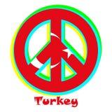 Флаг Турции как знак пацифизма иллюстрация штока