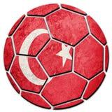Флаг Турции футбольного мяча национальный Турецкий шарик футбола Стоковая Фотография RF