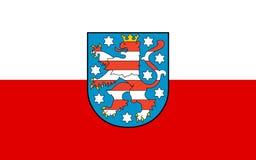 Флаг тюрингии стоковые изображения