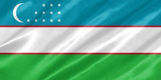 Флаг Узбекистана стоковая фотография