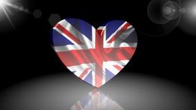 Флаг унифицированного королевства, значок, знак, самая лучшая 3D иллюстрация, самая лучшая анимация акции видеоматериалы