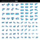 Флаг Фиджи, иллюстрация вектора Стоковые Изображения RF