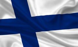 флаг Финляндии Стоковое Изображение