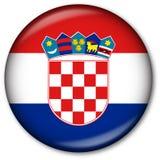 флаг Хорватии кнопки Стоковая Фотография