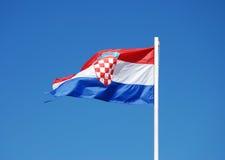 флаг Хорватии Стоковые Фото