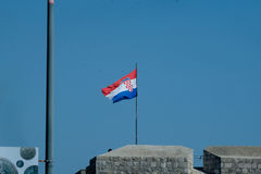 флаг Хорватии стоковое изображение rf