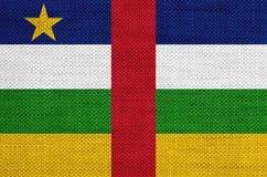 Флаг центрально-африканского белья Republicon старого стоковые изображения
