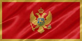 Флаг Черногории стоковое изображение