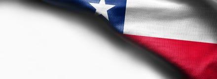 Флаг Чили на белой предпосылке Стоковая Фотография RF