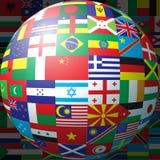 флаг шарика Стоковые Изображения RF