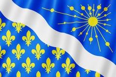 Флаг Эссонна, Франции стоковое фото rf