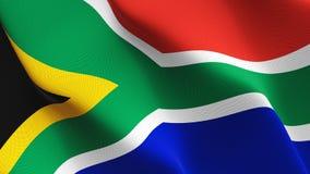 Флаг Южной Африки развевая на ветре иллюстрация вектора
