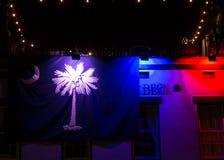 Флаг Южной Каролины на ноче Стоковые Фото